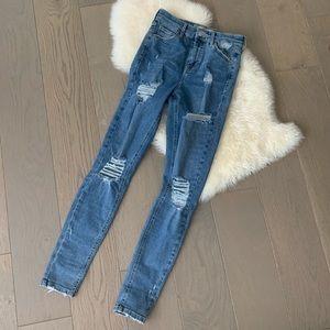 Topshop Jaime Moto Jeans
